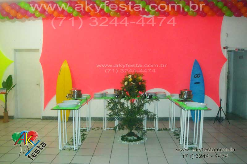 decoracao festa havaiana barata:preview